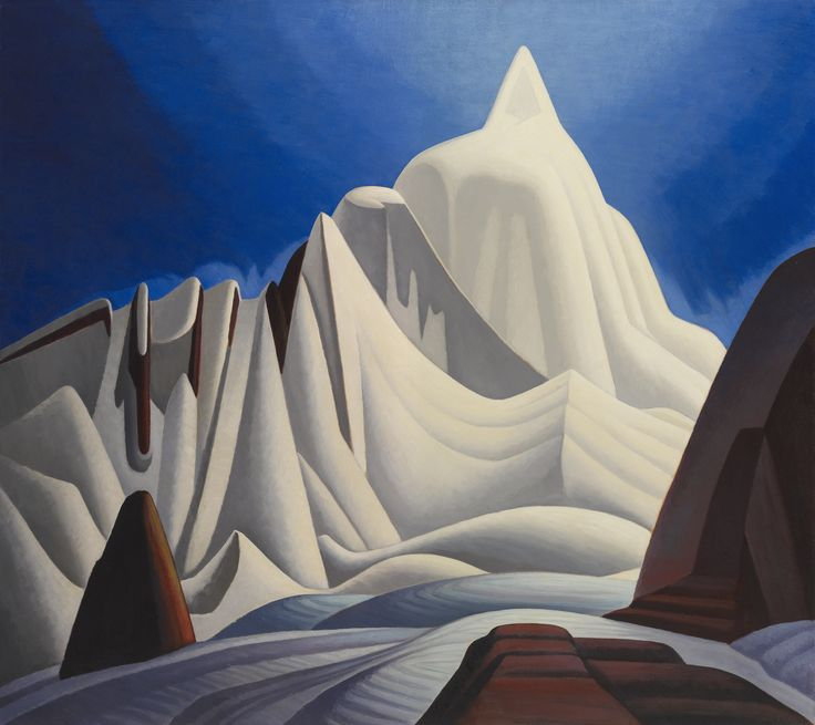 Mountains in Snow: Rocky Mountain Paintings VII (about 1929), Lawren Harris, Oil on canvas