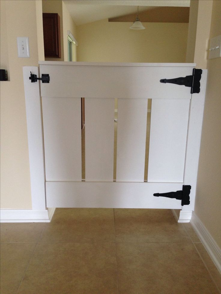 Homemade wood baby gate. Built by Ed Starnes.