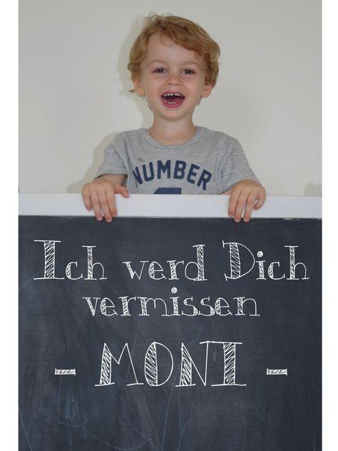 Abschied, Goodbye, Picture, Present, Kindergarten, Daycare, DIY, Photo Idea, Kids, blackboard, Chalkboard - www.mom4mom.at