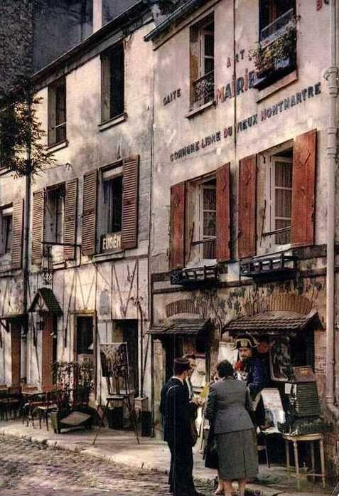 Paris Montmartre - Place du Tertre, Albert Monier