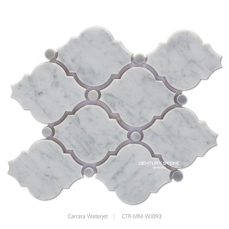 Economico naturale bianco di carrara arabeque getto d'acqua mattonelle di mosaico di marmo, Acquisti di Qualità Mosaico direttamente da Fornitori naturale bianco di carrara arabeque getto d'acqua mattonelle di mosaico di marmo Cinesi.