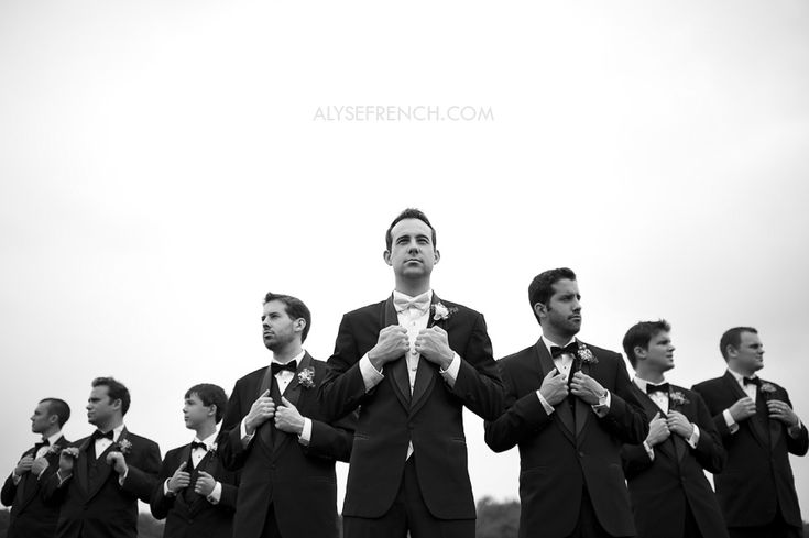 Lots of Bridal shots out there. I love this one for the Groomsmen!