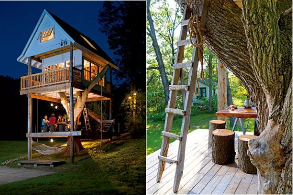 Camp Wandawega in Wisconsin: Spaces, Outdoors Treehouse, Amazing Treehouses, Tree Houses, Adult Tree House, Amazing Treehouse1, Trees, Backyard Treehouse, Kid