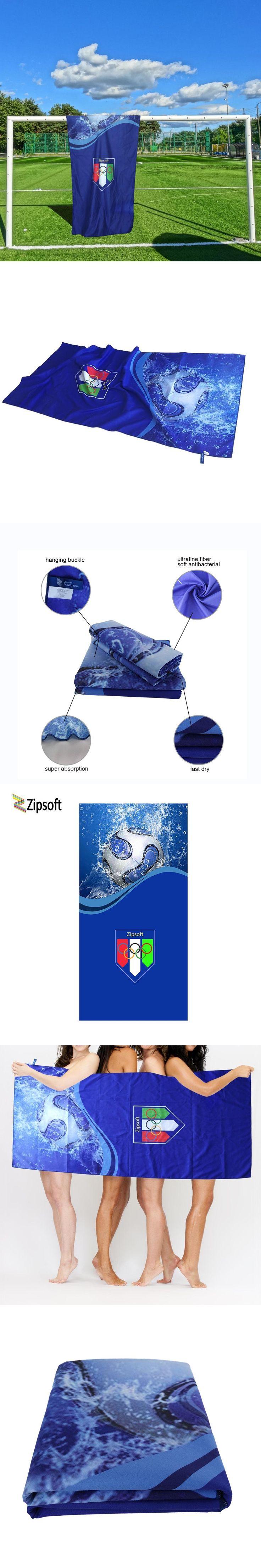 Zipsoft Large Beach Towel Fooball Olympics Bath Towels Adults Serviette Plage Sports Yoga Mat Microfiber Compressed Blanket 2017