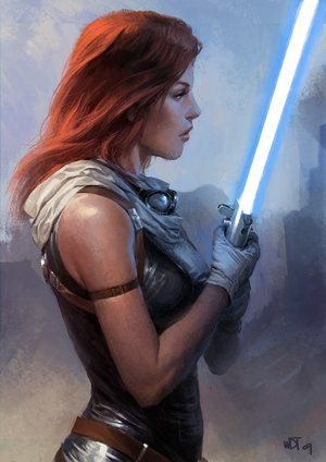Mara Jade, probably one of the toughest female characters in the Star Wars Expanded Universe.