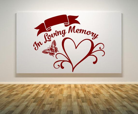 in loving memory heart wall decal - car decal