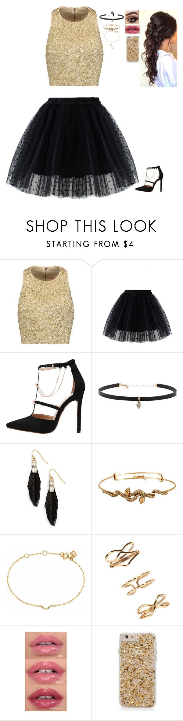 """""""Random Outfit"""" by nataliaace ❤ liked on Polyvore featuring Alice + Olivia, Chicwish, Carbon & Hyde, Sandy Hyun, Alex and Ani, Maya Magal and Forever 21"""