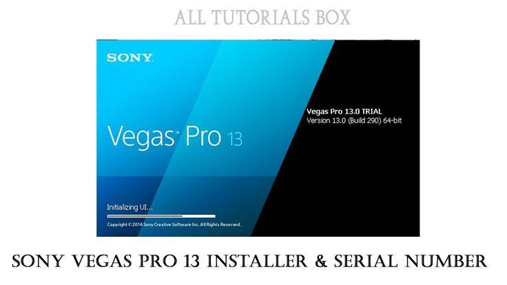 Sony Vegas Pro 13 Serial Number 2017
