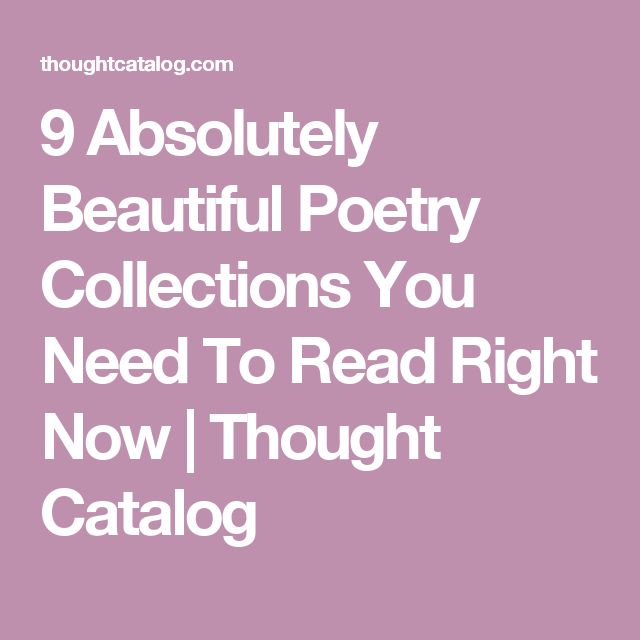 9 Absolutely Beautiful Poetry Collections You Need To Read Right Now | Thought Catalog