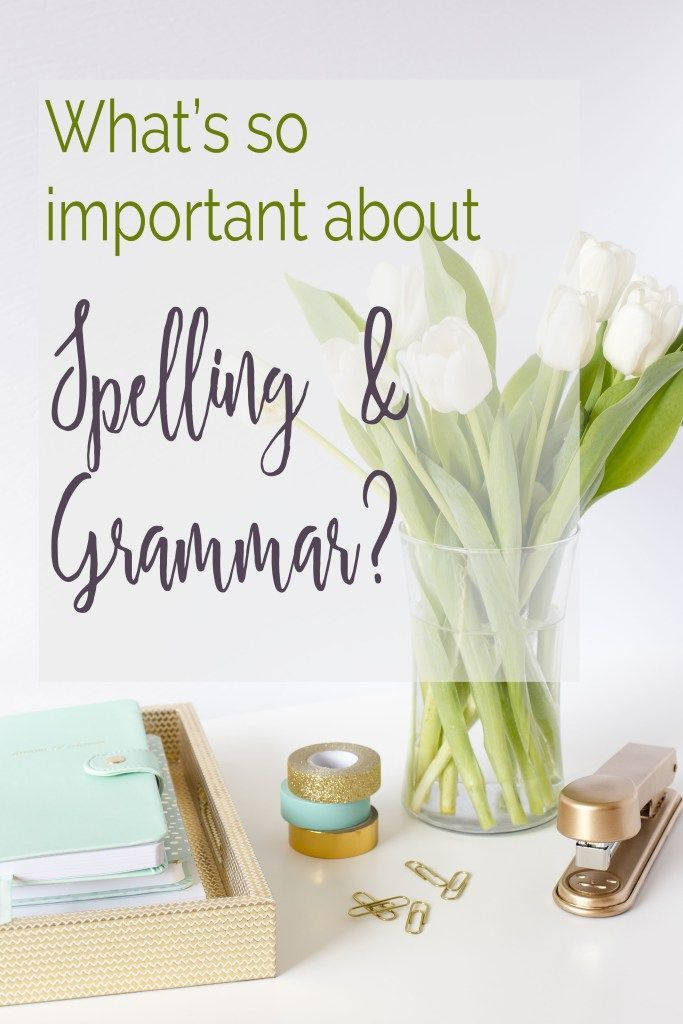 What's so Important about Spelling and Grammar anyway? - Patti Haus