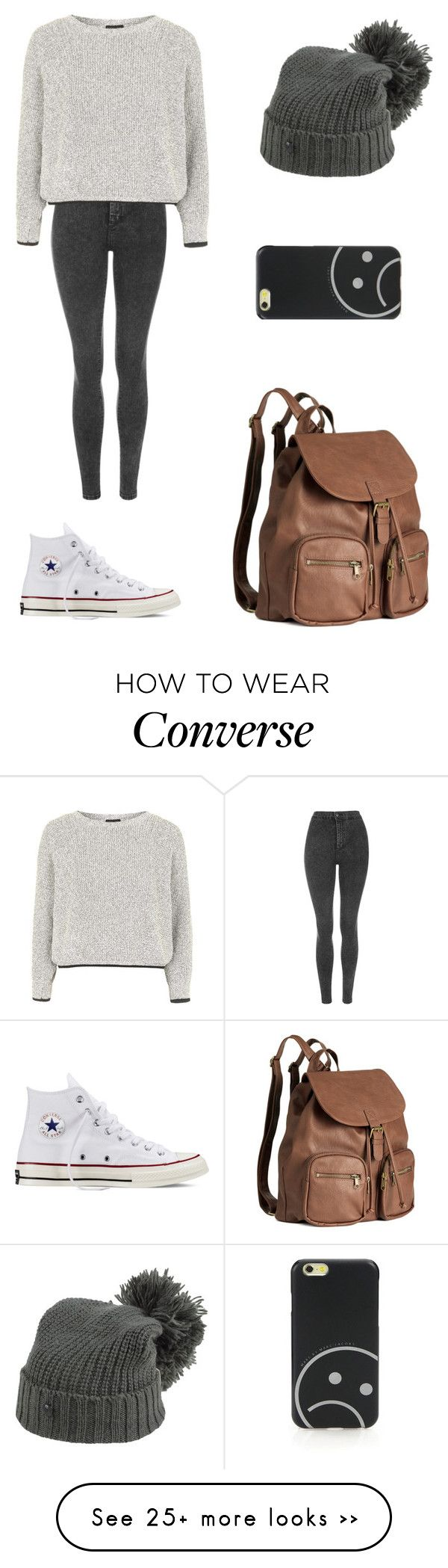 """Untitled #1807"" by ihavepashion-forfashion on Polyvore featuring Topshop, Converse, G-Star Raw, H&M and Marc by Marc Jacobs"