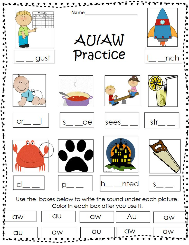 Word Family Worksheets (-aw Words)
