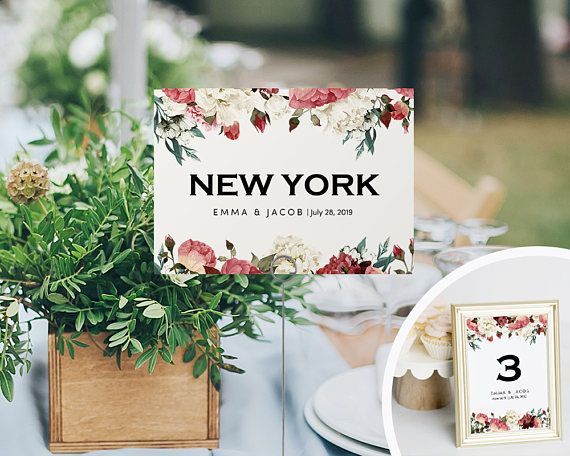 Printable Table Numbers Wedding Table Number Printable