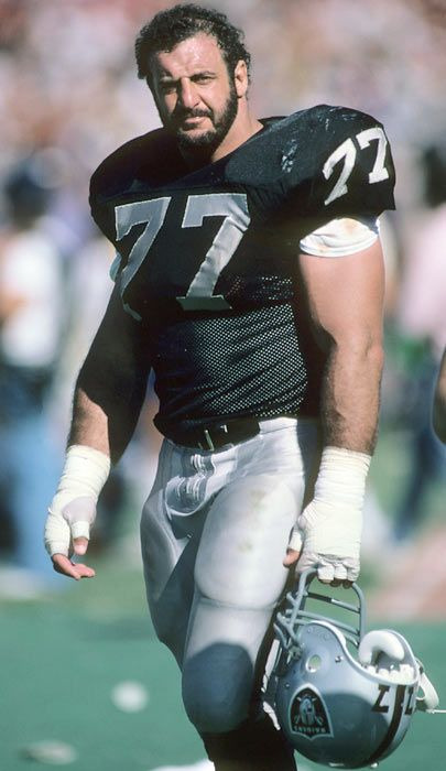 Lyle Alzado, Oakland Raiders- He may have started out with the Cleveland Browns and went to the Denver Broncos, but he ended his career with honor as a Raider and won a Super Bowl ring.