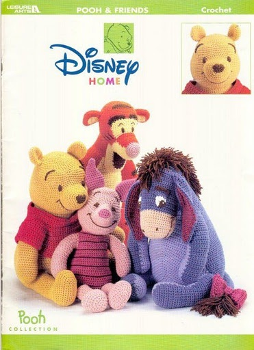 Winnie the Pooh. Crochet. instructions for all of these guys.