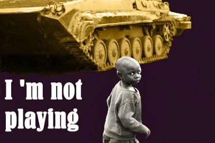 """De kunstenaar JJHemp tracht met zijn project ' it's not a game"""" aandacht te vragen voor kinderen in oorlogsgebied. Waarbij hij de link legt tussen kinderen in oorlogsgebied in de realiteit en kinderen in oorlogsgebied in de virtuele realiteit als ontspanning."""