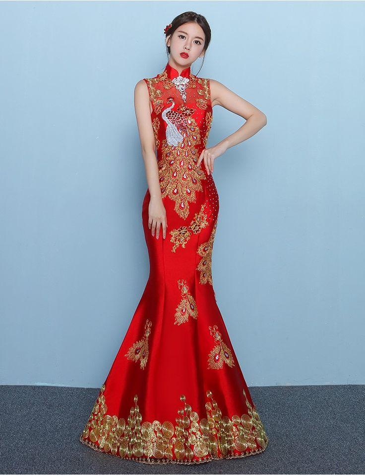 24 best Wedding dress Chinese images on Pinterest   Short wedding ...