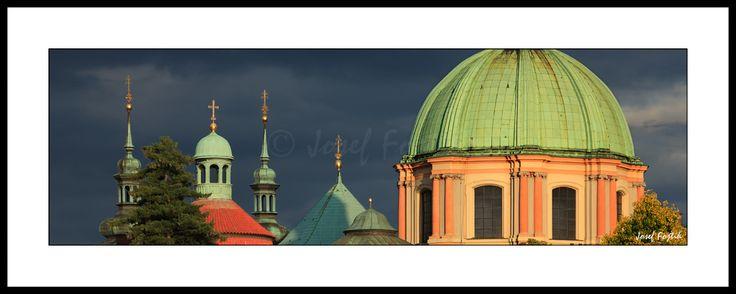 Framed fine art photography - Dome of the Church of Saint Francis Seraph, Prague, Czech Republic. Photo: Josef Fojtik - www.joseffojtik.com - https://www.facebook.com/Fineartphotoprints