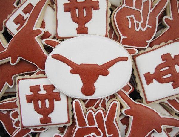 AWESOME!  UT Austin Longhorn cookies