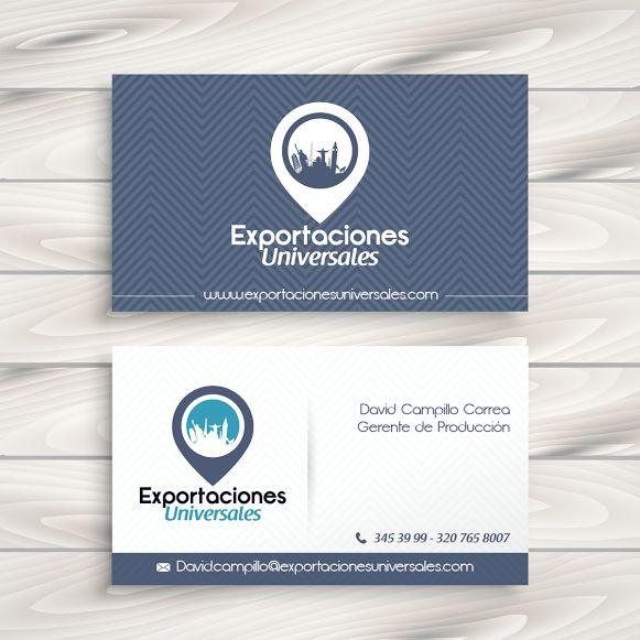 Tarjetas de presentación para una empresa de exportaciones