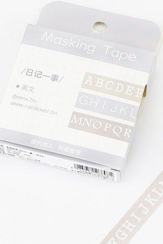 Kawaii Planner Washi Masking Tape - Diary Series - English Alphabet