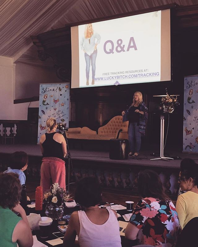 Q&A time with @denisedt! What would you ask her if you were here? #shiningacademy #retreat #canberra