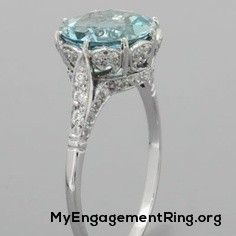 cute antique light blue topaz engagement ring - My Engagement Ring