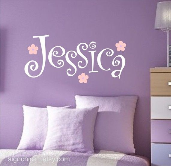 Curly Girly Name Wall Decal By Signchick1 On Etsy, $24.00