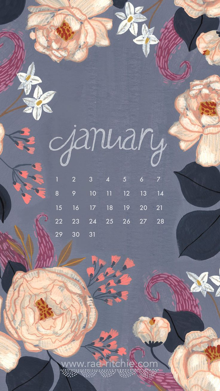 January calendar wallpaper