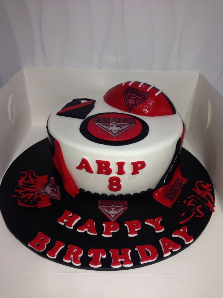 Afl Essendon Football Cake Custom Made Cakes Cake