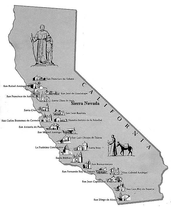 picture regarding California Missions Map Printable referred to as Nationwide Working day Of Reconciliation The Swiftest California