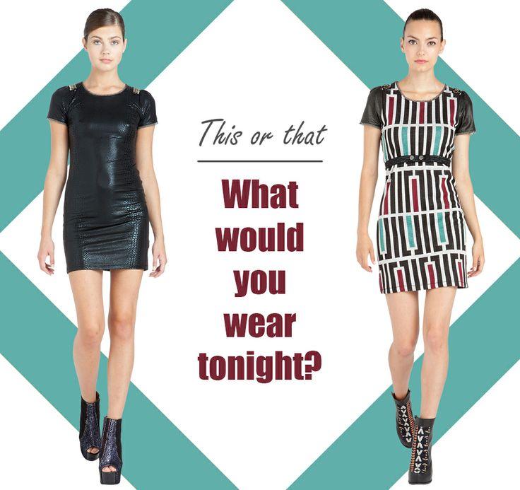 ¿Cuál te pondrías esta noche? ¡Elige el tuyo!  What would you wear tonight? Choose yours!