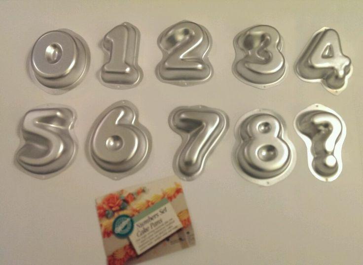 Wilton Numbers Set Cake Pan 1 2 3 4 5 6 7 8 0 Mold