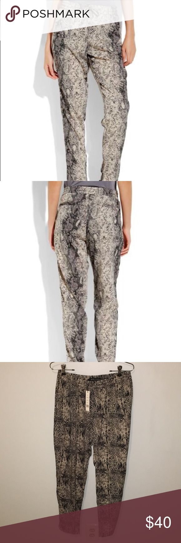 W118 by Walter Baker Dakota Pant NWT W118 by Walter Baker Dakota Pant NWT. Color: grey reptile. Size M. So cute and comfortable! Walter Baker Pants