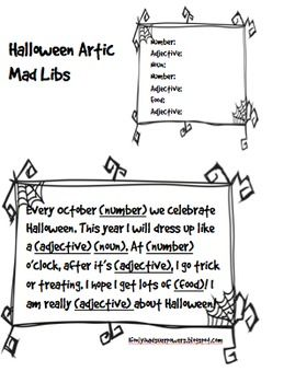 A Halloween themed quick Mad Libs activity to work on articulation, parts of speech and reading. This Free Mad Libs comes with an entire page of /r/ (mixed position) and /s/ (mixed position) broken down by parts of speech. This activity can be done alone or in a group and can take 5-15 minutes depending on the number of people contributing to the Mad Libs.