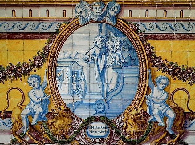 Sta cruz church - old azulejos - Coimbra - PORTUGAL