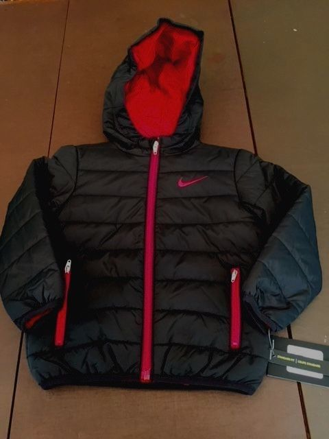 f85acad7f6ee Outerwear 147324  Nwt Nike Boys Toddler Winter Coat Black Red ...
