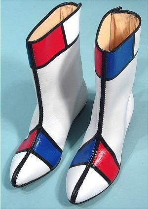 "I had to add these, had a pair just like them in the 60's ~ red, white & blue ""go-go boots"", beleive it or not I made a similar dress to wear with them.  Wow the memories & the dancing...."