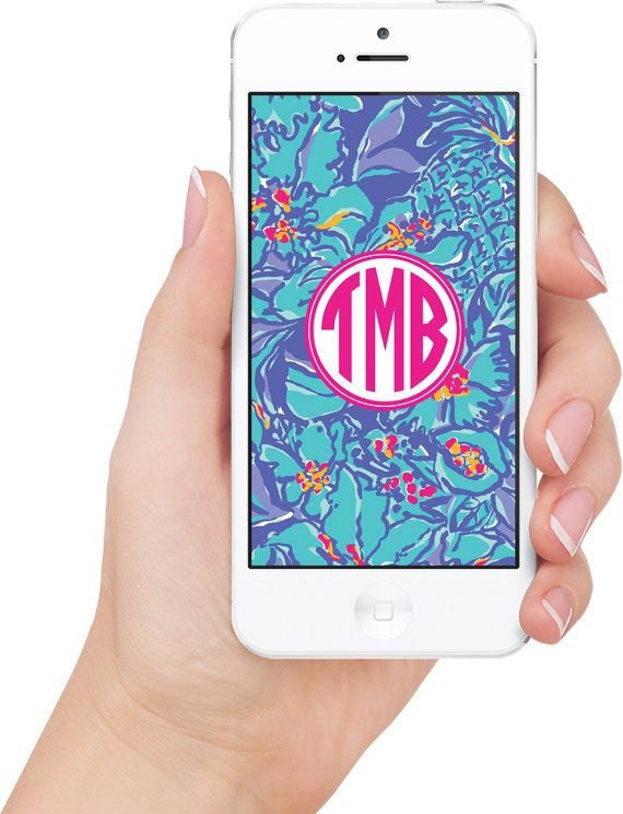 Lilly Pulitzer Mai Tai Monogrammed iPhone 5 Wallpaper