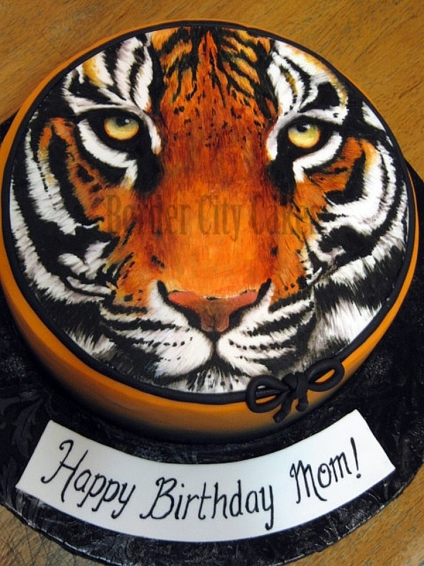 Cake Designs Tiger : Tiger Face Cake cakes ideas :) Pinterest