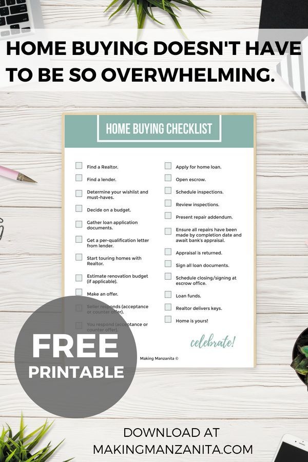 It's just a photo of Home Buying Checklist Printable regarding moving