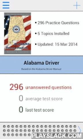Alabama DMV Test Prep  Android App - playslack.com , The most comprehensive Alabama DMV permit and driver's license practice test app is now available for Android! Previously only available for iPhone, our app features 296 essential questions to help you prepare for the knowledge test.The first two topics, Licensing and Impaired Driving, are free. To access all practice questions an in-app purchase is available.Based on the Alabama Driver Handbook. Features: - 21 free practice questions…