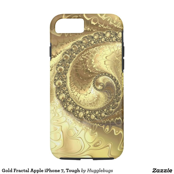 Faux Gold Fractal Apple iPhone 7, Tough