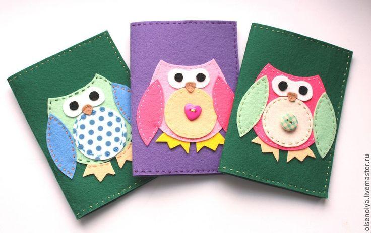 Купить обложка на паспорт из фетра - разноцветный, фетр, обложка на паспорт, обложка для паспорта, обложка из фетра