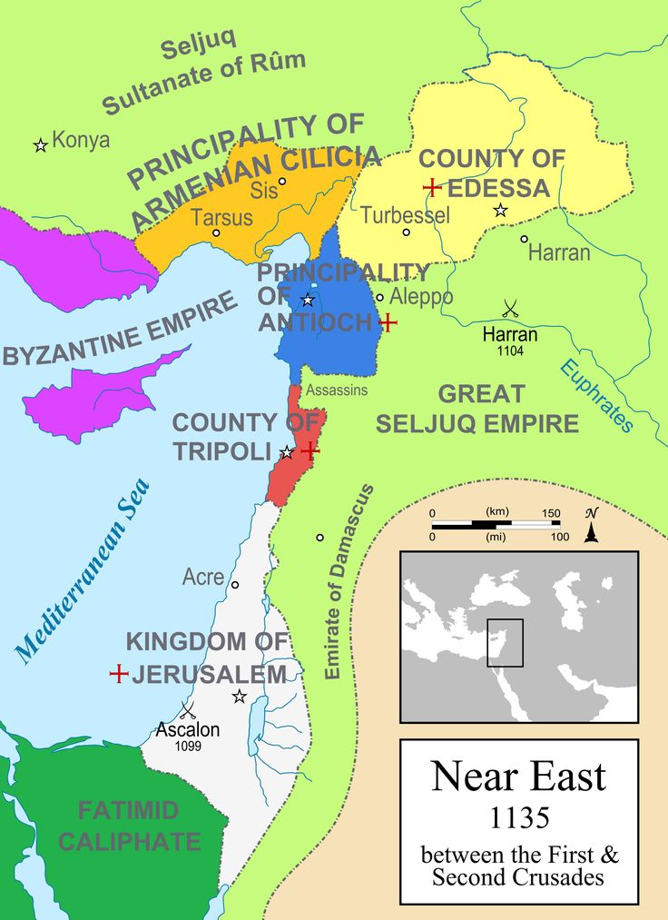 The Crusader States between the First & Second Crusades(1135)