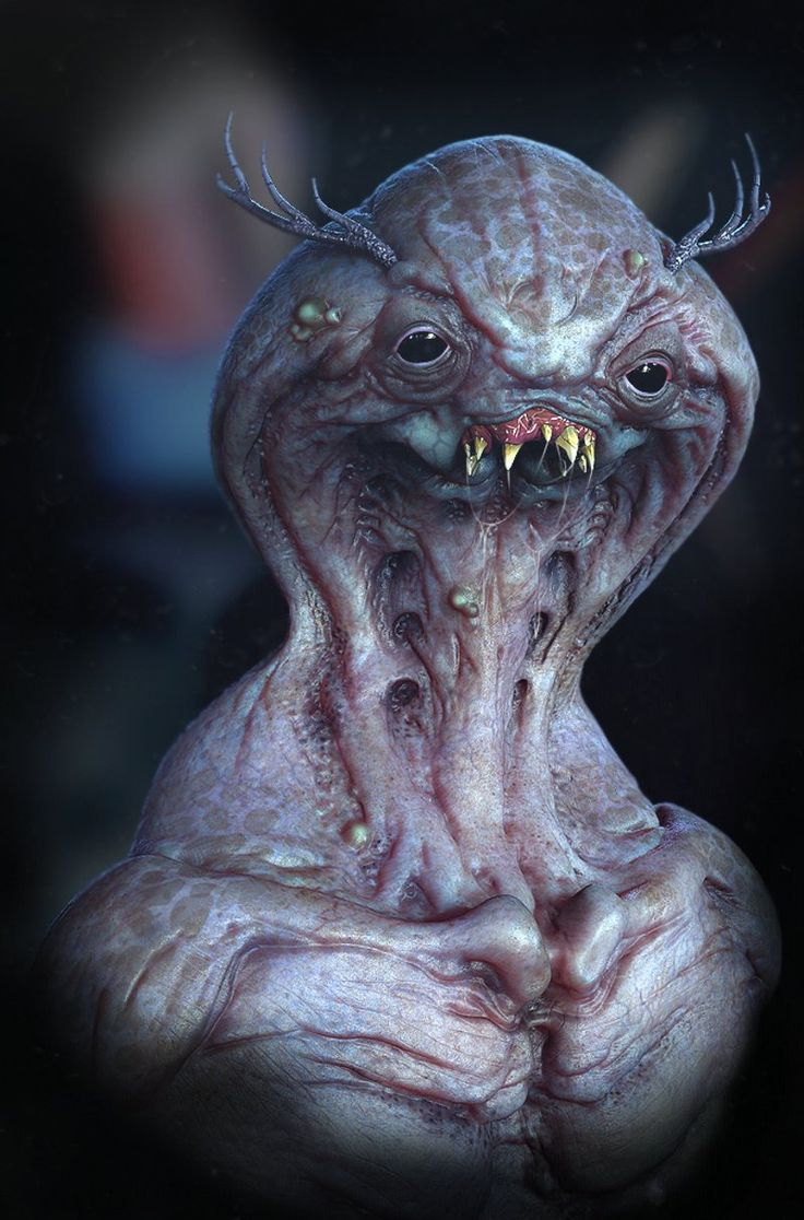 Alien creature done using zbrush rendered in keyshot