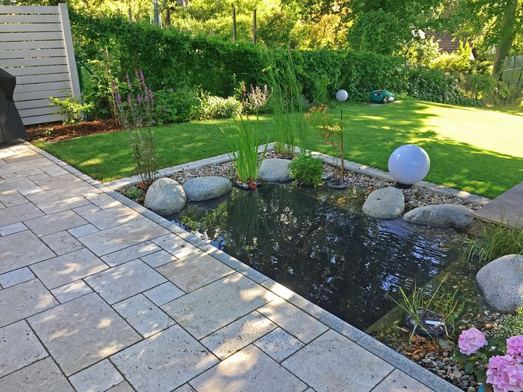 19 best teich und naturpool images on pinterest | garden, terrace ... - Gartenteiche An Terrasse
