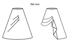 This particular piece shows How to take your skirt and pin/gather it into a steampunk skirt, but the site behind this image has alot of costuming advice for Steampunk outfits !