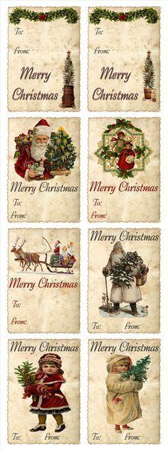 Vintage Christmas Tags!
