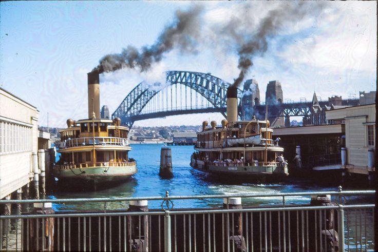Vintage Sydney ferries, Vintage Sydney photos, Vintage Circular Quay www.pinterest.com/wholoves/Sydney #sydney #australia